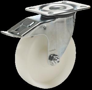 koło polipropylenowe mocowanie na płytkę z hamulcem koło tworzywowe do wózków transportowych COLSON