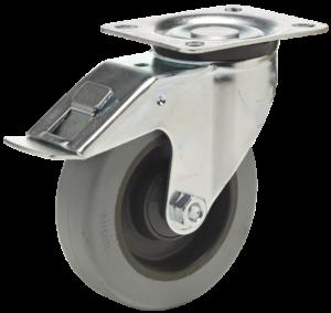 BPRG 1603 6440 koło z bieżnikiem z gumy naturalnej z hamulcem Colson