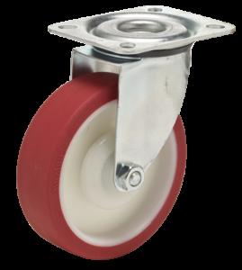koło poliuretanowe zestaw z mocowaniem na płytkę