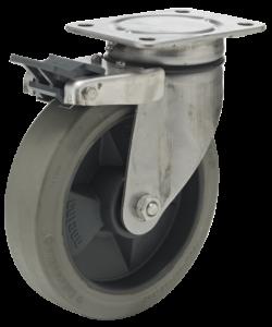 RG koło wzmacniane z bieżnikiem z gumy naturalnej Stal Nierdzewna