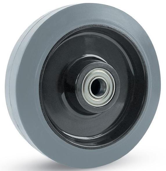 koło na piaście tworzywowej z bieżnikiem z szarej niebrudzącej gumy Colson