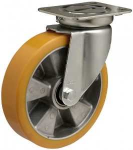 koło aluminiowo-poliuretanowe z kalamitką do konserwacji