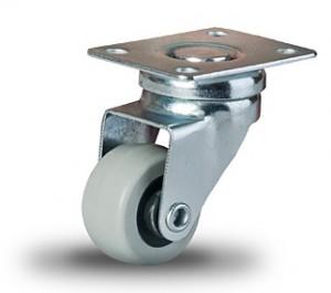 Małe kółko 30 mm z bieżnikiem z gumy termoplastycznej