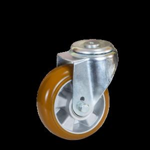 JTAU 1607 6440 Ergoforma koło aluminiowo-poliuretanowe na otwór z hamulcem Colson do wózków transportowych
