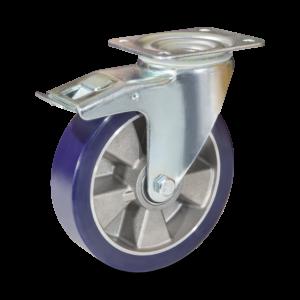 Koło aluminiowe z miękkim bieżnikiem poliuretanowym COLSON