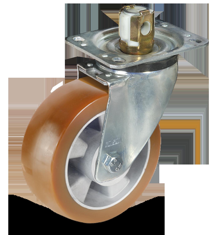 AU koło aluminiowo-poliuretanowe z hamulcem centralnym Colson