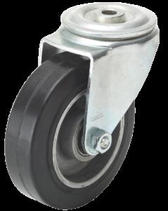 Zestawy kołowe do wózków sklepowych Koło gumowo aluminiowe