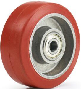 koło do wysokich temperatur z bieżnikiem gumowym