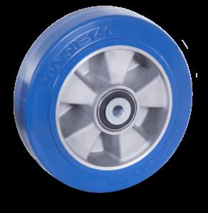 koło aluminiowe z miękkim bieżnikiem poliuretanowym
